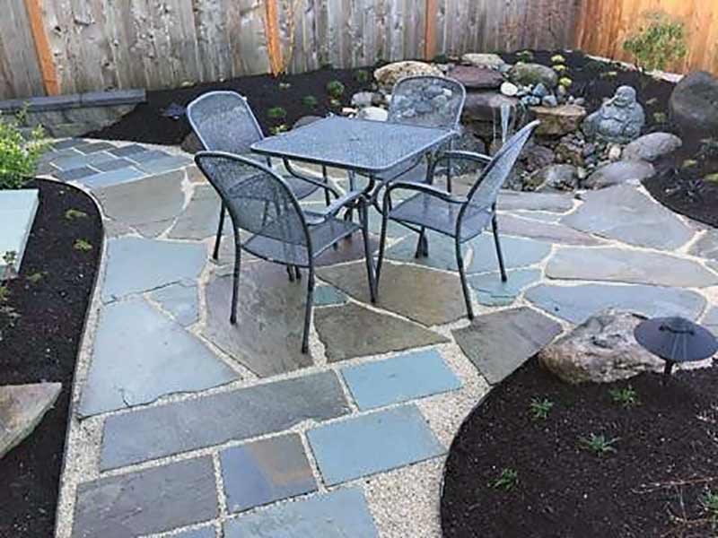 Cut Bluestone and irregular Bluestone