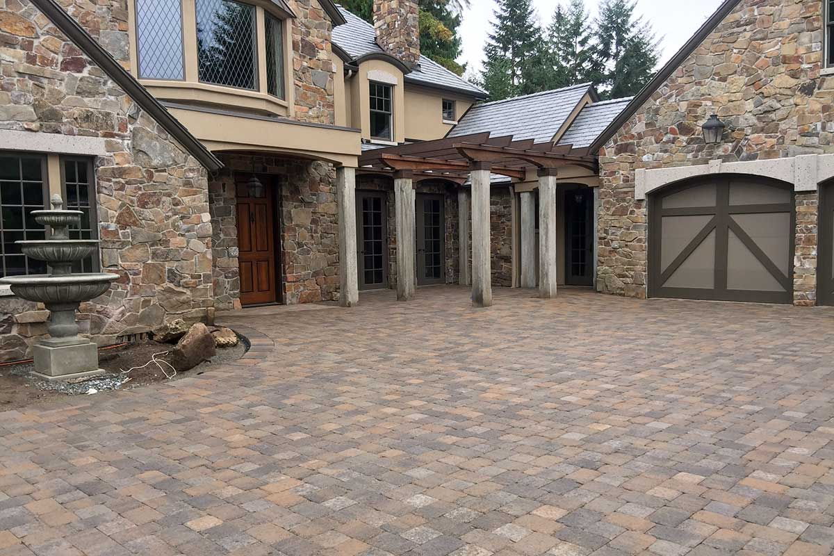 paver driveway and landing pad