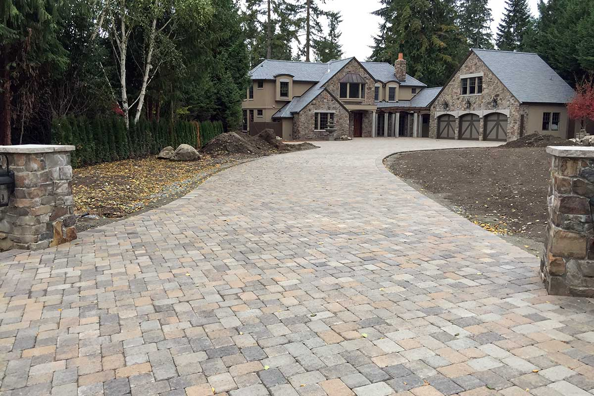 Western Interlock paver driveway