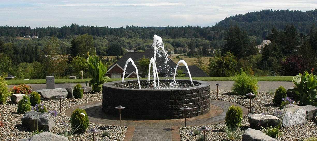 Circular Fountain by Day