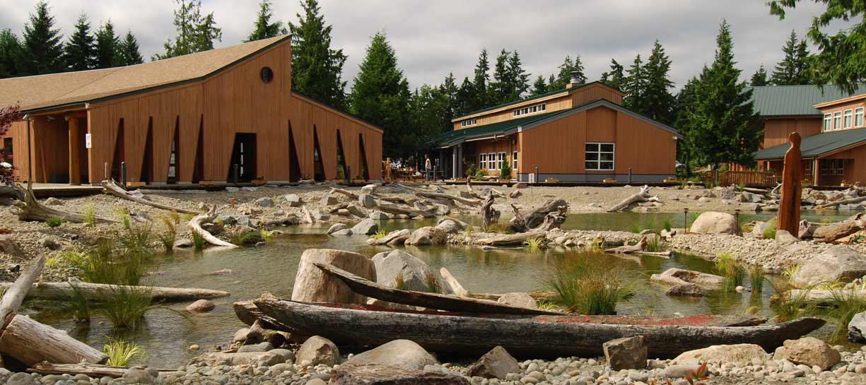 Pond at Squaxin Tribal Center